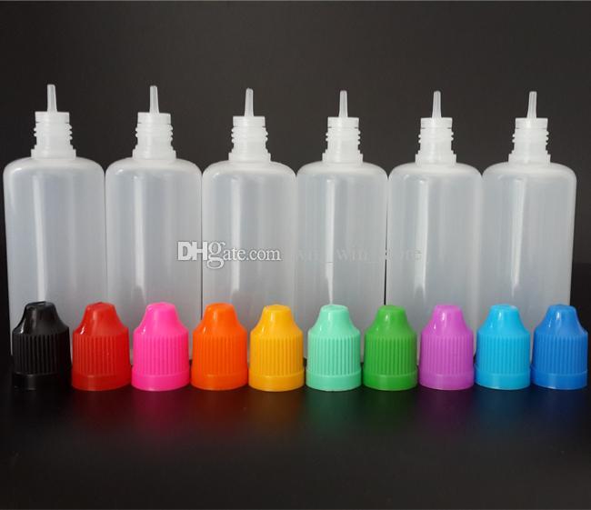 Yeni 30 ml 60 ml Plastik Damlalık Şişeler PE Yumuşak Boş Şişeler İğne Şişe ile Çocukların Açamayacağı Cap ve Uzun Ince İpuçları, EMS ücretsiz kargo