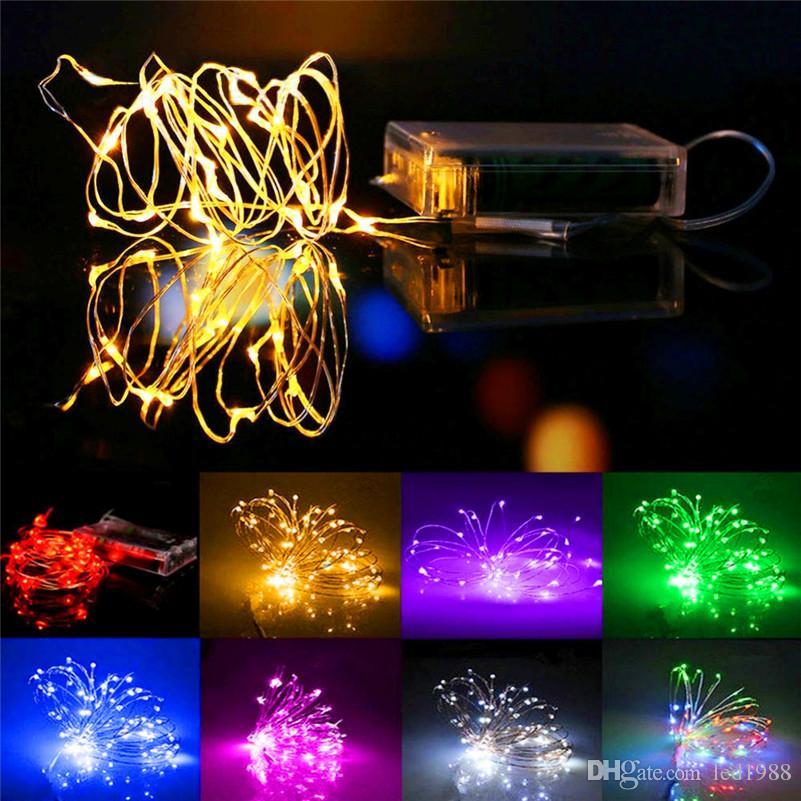 10m 100 led battery operated led string light led copper wire fairy lights for holiday wedding party christmas lights drops outdoor patio string lights