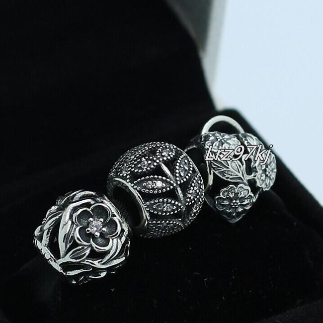 100% autentyczne 925 Sterling Silver Charms and Bead Set pasuje do European Pandora Biżuteria Charm Bransoletki SN013