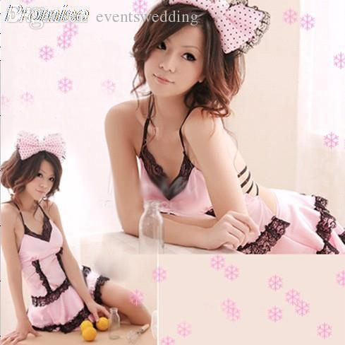 Wholesale New Arrival Cosplay Pink Cat Girl Costume Halloween Costumes For Women Rpg Sexy Party Dress Bar Nightclub Female Uniforms Costume Male Costumes