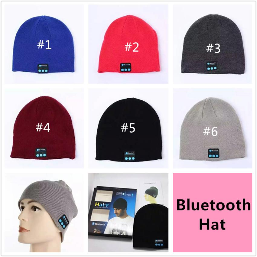Christmas Gift NEW Soft Warm Beanie Bluetooth Music Hat Cap with Stereo Headphone Headset Speaker Wireless Mic Hands-free for Men Women