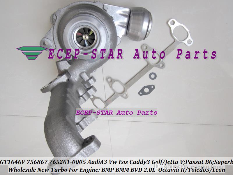 GT1646V 765261 765261-0005 756867 756867-0002 Turbo Turbocompresor para AUDI A3 VW Golf Jetta Passat B6 Superb 2 Toledo 3 Leon BMP BMM BVD 2.0L