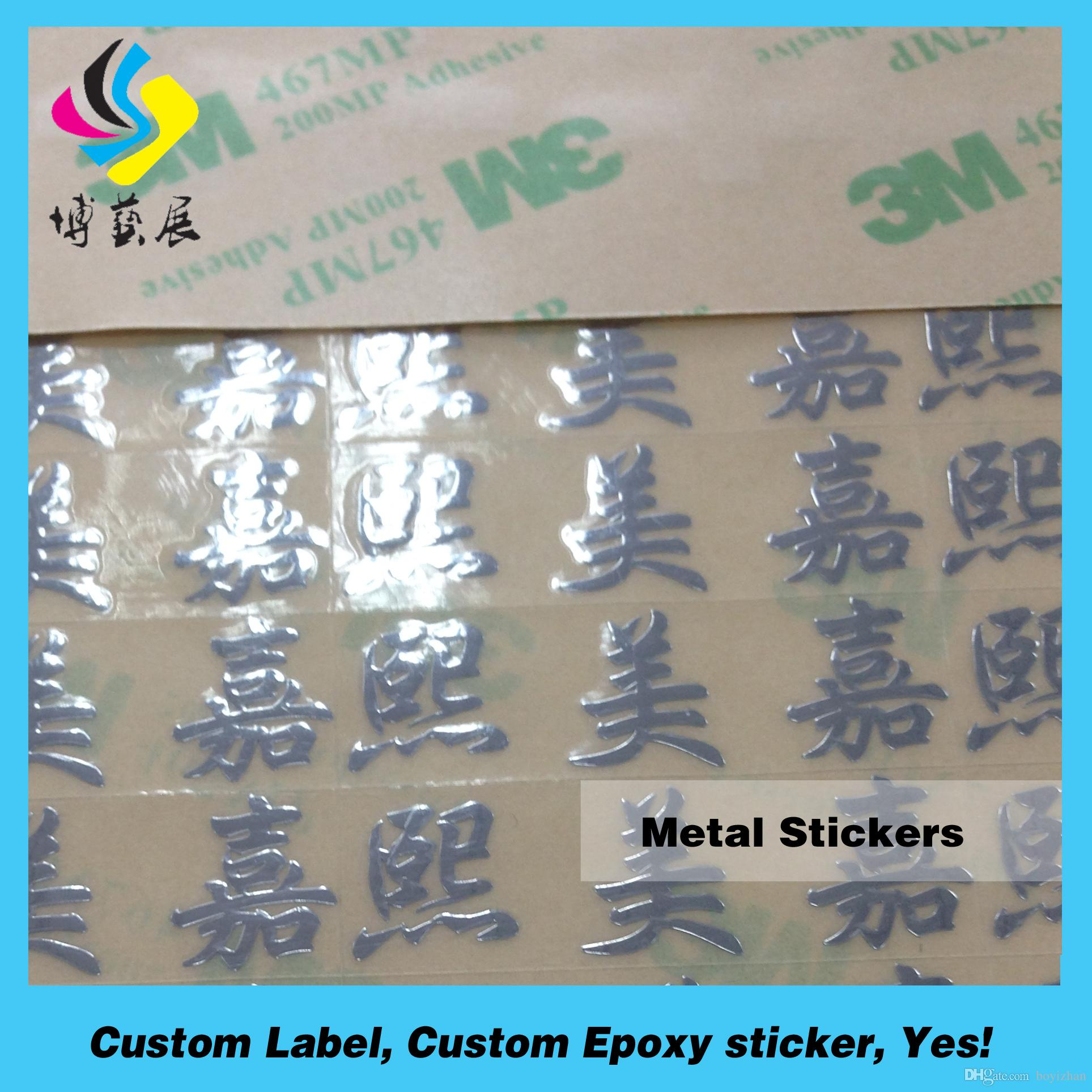 Factory Price With Custom Logo Gold Electroplating Metal D - Custom logo stickers cheap