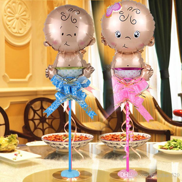 Cute Baby Shower Air Balloons 1th Birthday Party Decoration Foil Balloons Baby Girl & Boy Happy Birthday Helium Balls