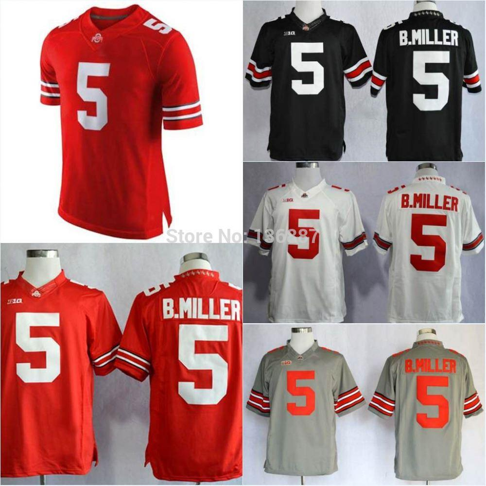2018 Factory Outlet #5 Braxton Miller,Ohio State Buckeyes Authentic Ncaa  College Football Jerseys,2014 New Jersey, Embroidery Logos,Free Shippin  From ...