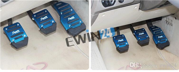 Nuevo y de alta calidad Universal Racing Sport antideslizante de aluminio manual de coches pedales de freno Pad