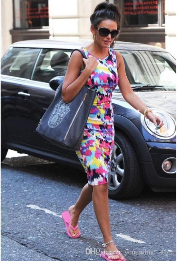 2016 mode Frauen Sommer Kleider Rock Vestidos Sleeveless Bodycon Bangage Party Bleistift Kleid Clubwear Casual Weste Kleid Kleidung A71