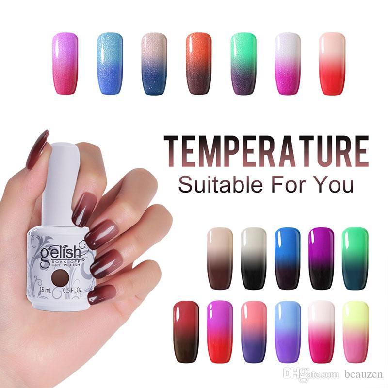Temperature Gel Gelish Nail Art Changing Gel Nail Polish Base Top