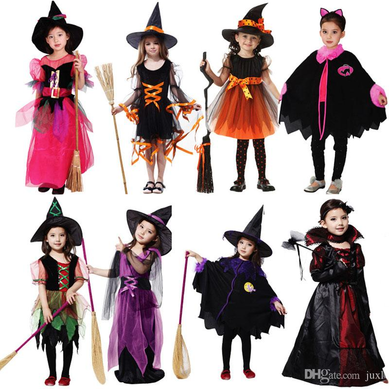 Grosshandel 2018 Hexe Kostum Teufel Engel Kleidung Kinder Madchen