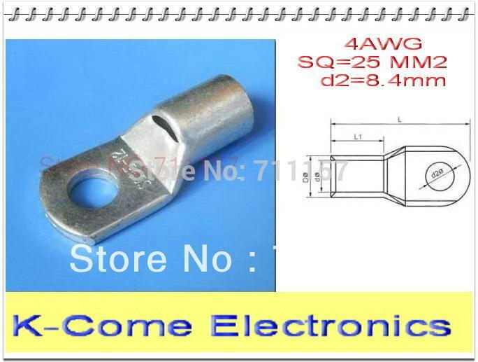 2018 Sc25 8 Copper Cable Lugs For 4 Awg With Mounting Hole