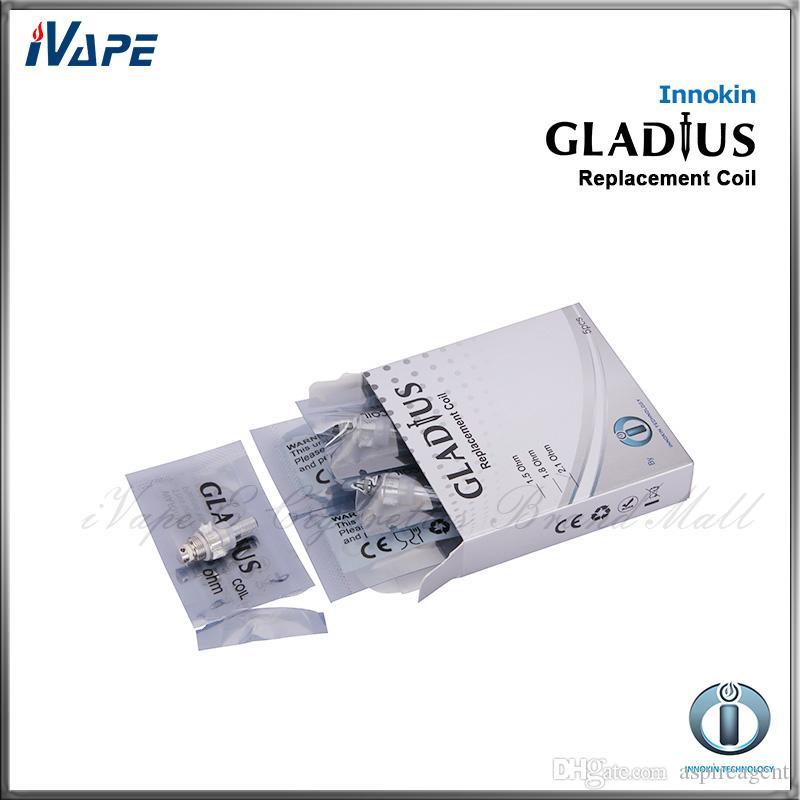 Innokin Gladius Yedek Çift Bobinler 1.5 2.1ohm Mevcut Elektronik Sigara Atomizer Gladius X Gladius M Clearomizer Için Çift Bobin Kafası