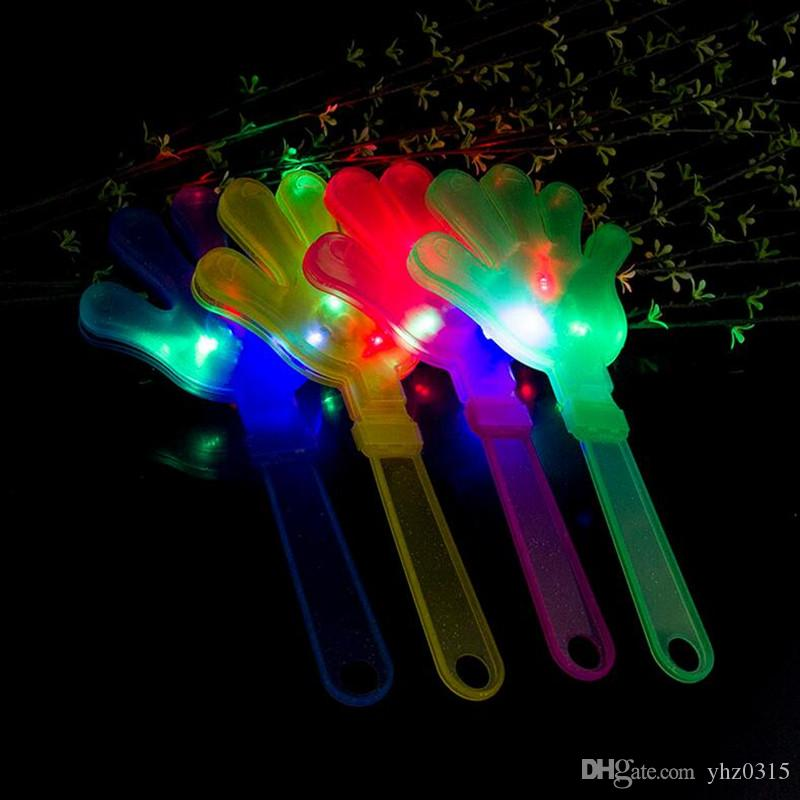 24cm Flash LED Luminescent hands clap luminous party supplies light hand clapping device luminous Christmas Gift toys