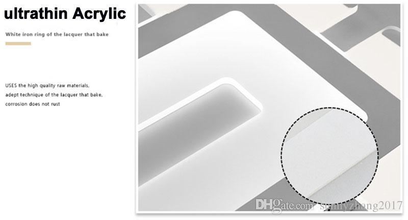 Led 천장 조명 2017 NEW STYLE! Led 탑재 된 빛 Ultrathin 아크릴 현대 스카이 시티 울트라 - 얇은 Led 디 밍