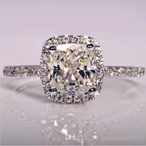 Grootte5 / 6/7/8/9/10 Victoria Weick Sieraden 925 Sterling Zilver gevuld Wit Sapphire Gem Zirconia Gold Women Wedding Engagement Band Ring Gift