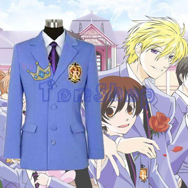 anime ouran high school host club blazer jacket unisex cosplay coat