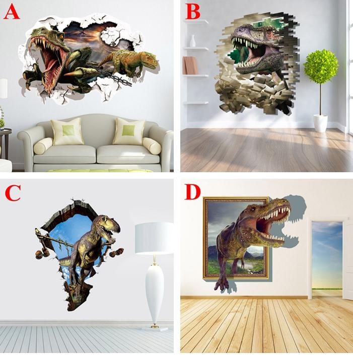 Dinosaur D Wall Stickers Jurassic World Vinyl Decals For Kids - 3d dinosaur wall decalsd dinosaur wall stickers for kids bedrooms jurassic world wall
