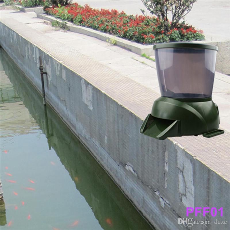 대용량 디지털 자동 생선 피더 - 4L 생선 연못 수족관 자동 휴가 Koi Feed Timer Dispenser