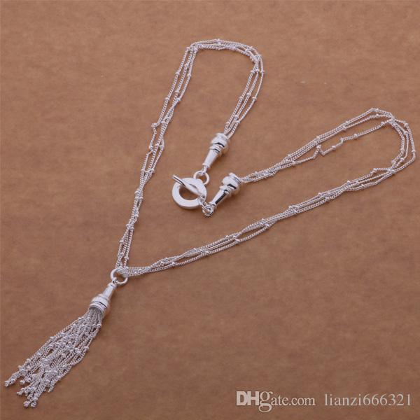 무료 배송 추적 번호가 가장 인기있는 여성의 섬세한 선물 쥬얼리 목걸이 925 실버 체인 목걸이 925