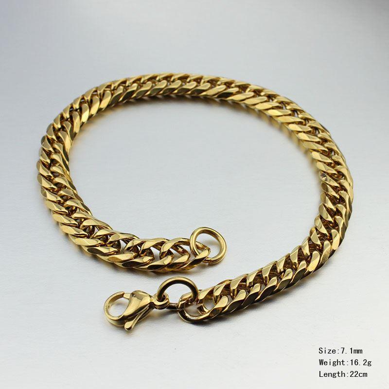 خمر شغل سلسلة أساور الذهب مكتنزة الفولاذ المقاوم للصدأ مجوهرات رجالية مجوهرات afrcian