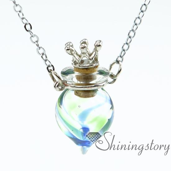 Wholesale Round Perfume Sample Vials Scent Necklace
