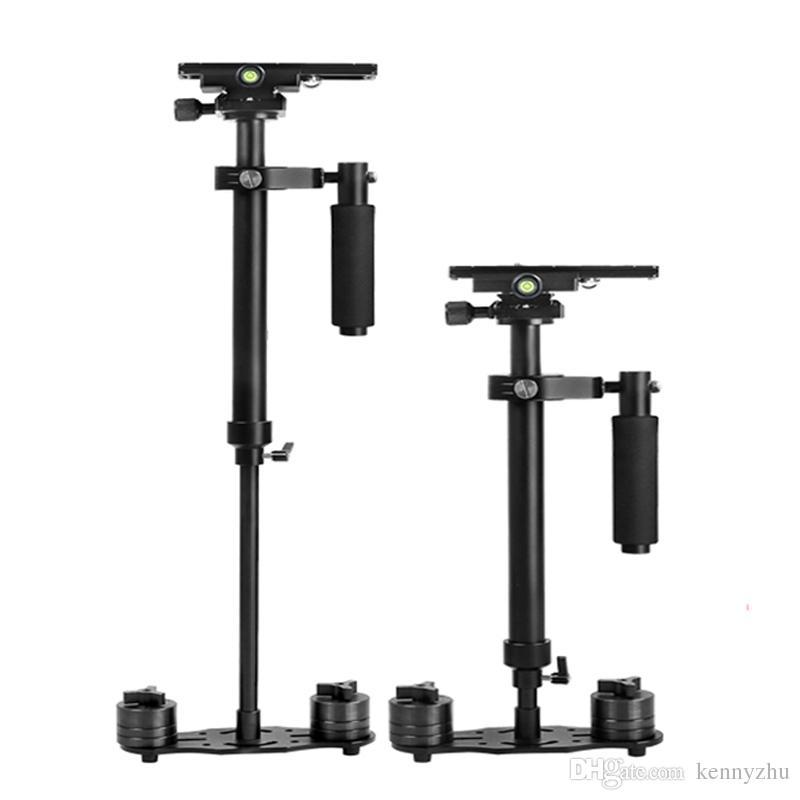 ビデオカメラDVビデオカメラDSLRキャノンニコンのためのミニポータブルハンドヘルドアルミスタビライザーS-60 60CM