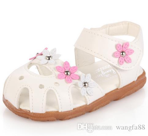 08798abbd7a Fashion Child Sandals Shoes Soft Bottom Baby Girls Sandals Shoes Baby Kids  Flower Sandals Girls Leather Princess Shoes Kids Footwears Best Toddler Boy  Shoes ...