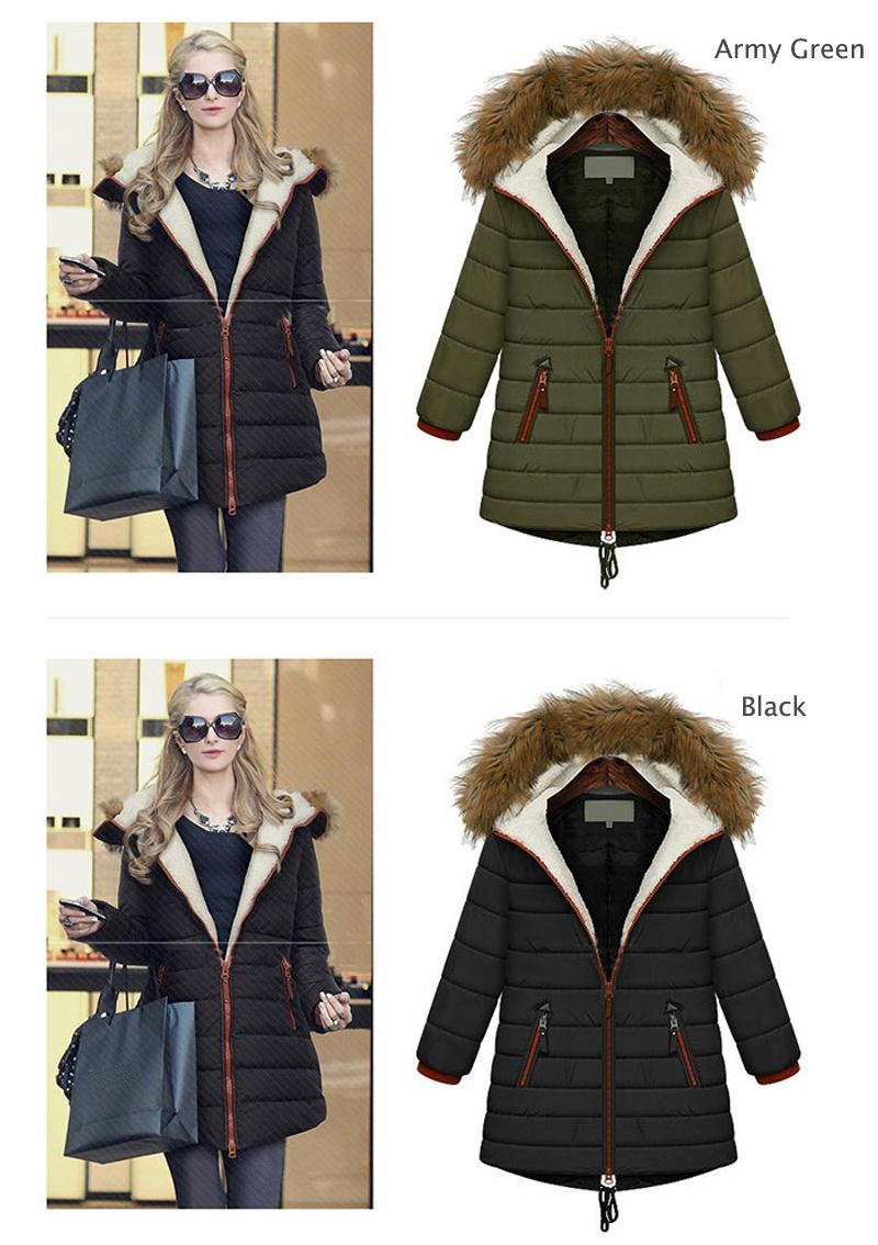 Plus Size 5X Lady Parka Europe New Winter Fashion Womens Cotton Coats For Female Casual Jacket Warm Parker