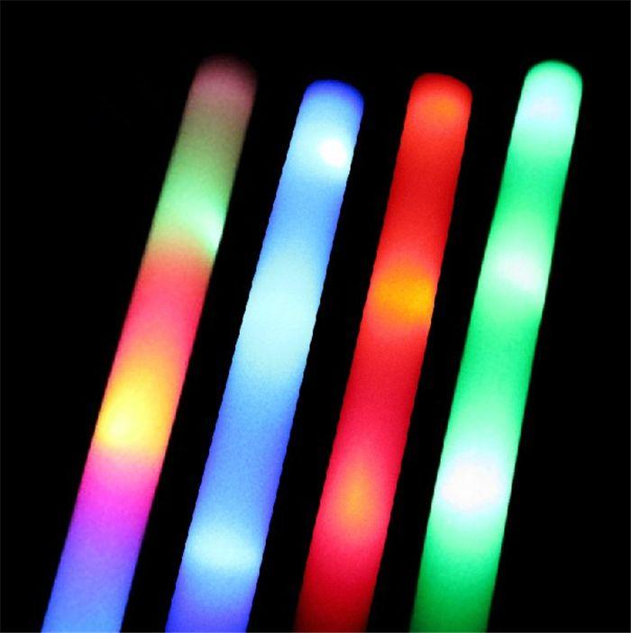 Led Foam Light Stick Multi Color Flashing Sticks Concerts