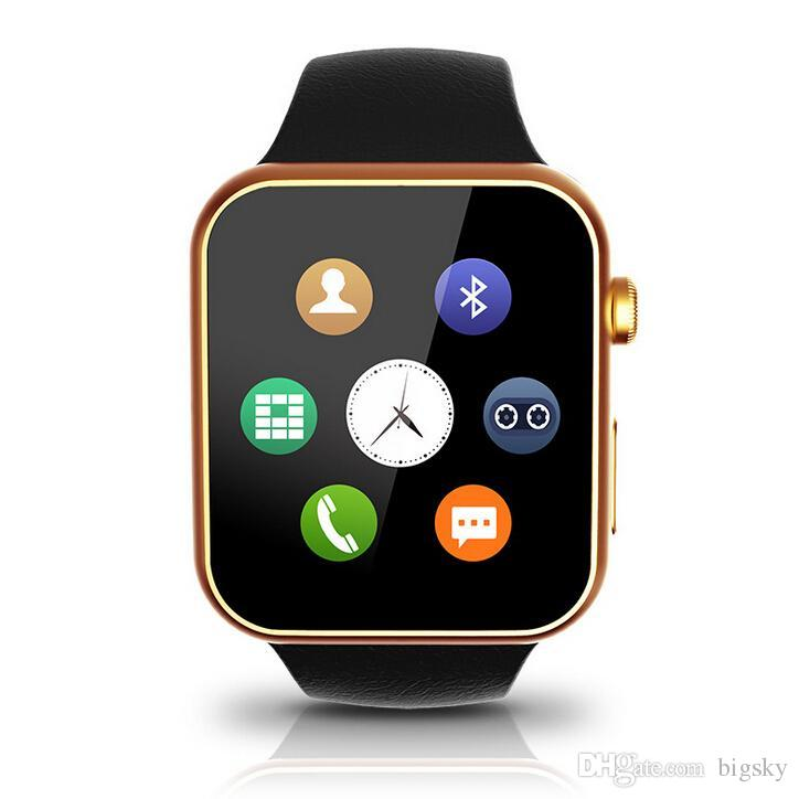 new a9 smart watches is compatible with apple android. Black Bedroom Furniture Sets. Home Design Ideas