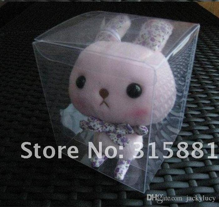 Retail Top Quality 7cm Universal Square Clear PVC Package Box Plastic Containers Jewelry Gift Box Candy Chocolate Towel Cake Boxes