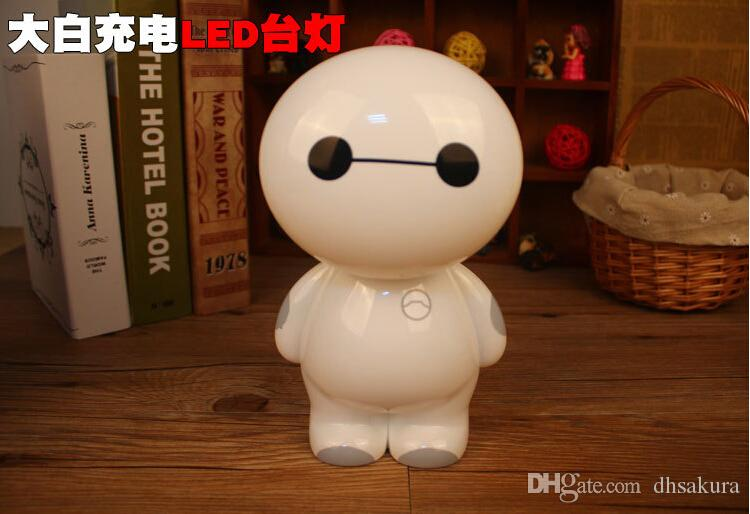 2018 New Arrivals Baymax Table Lamps Led Charging Lights Eyeshield ...