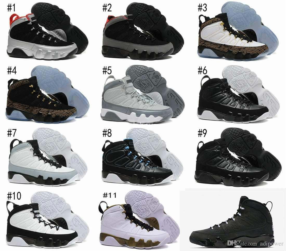 reputable site 5a465 dcc83 New air Retro 9 Anthracite black Copper Statue Baron Charcoal Johnny Kilroy  blue Mens Basketball Shoes Cheap Retro 9s IX Sneakers 7-13
