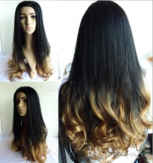 Cheap 2016 blackbrown ombre celebrity curly wig cheap wigs two see larger image urmus Image collections