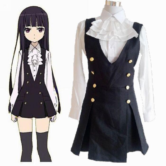 Adult Anime Cosplay Inu X Boku Secret Service Ss Shirakiin Ririchiyo Costume Long Sleeve Shirt ...