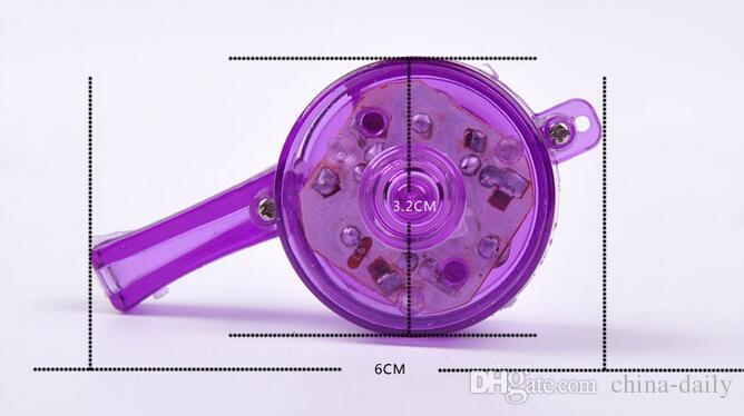 Freeship 50 stks LED-licht 6 * 3.2cm fluitje knipperende gloed sport fluitje met riem lanyard ketting voor partij concert disco bruiloft ktv cadeau