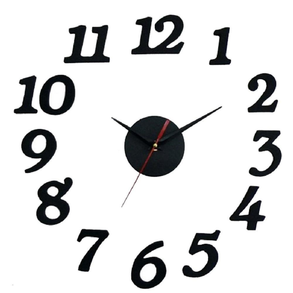 modern diy clock large wall clock 3d sticker foam big watches home see larger image