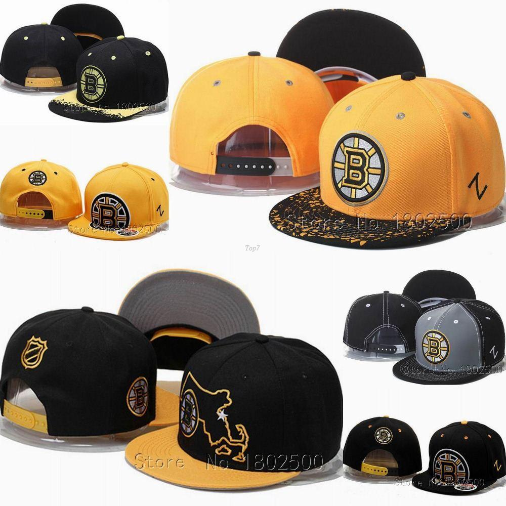 842ae82f3a2 Hot Men s Boston Bruins Snapback Hats Ice Hockey Sport Team Caps B ...