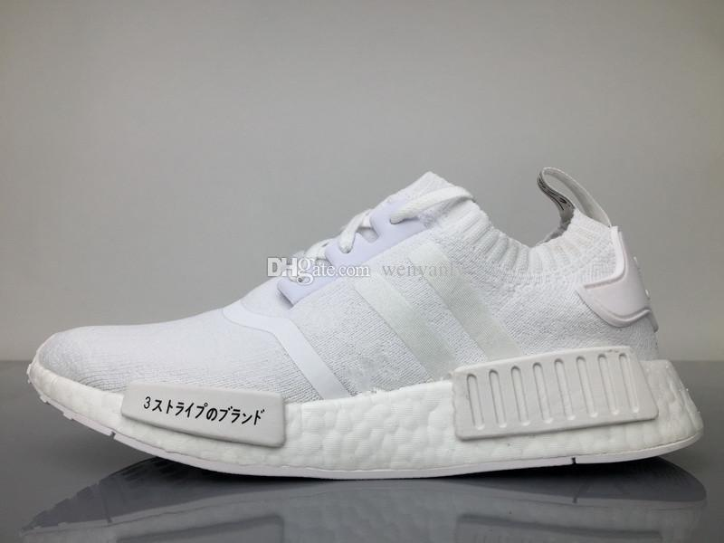 6ed23fcfec0cc1 ... With Box Japan Pack Triple White BZ0221 Triple Black Real Boots R1  Primeknit Running Shoes High ...