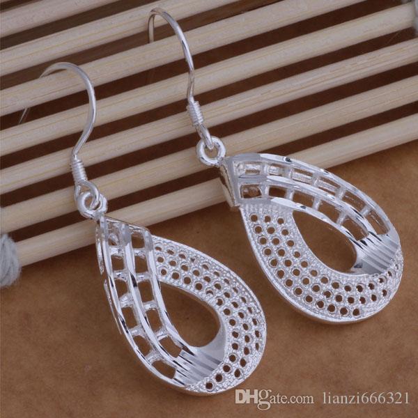 Moda fabricante de jóias muito cinco folhas brincos 925 sterling silver jewelry preço de fábrica moda brilhar brincos ae001