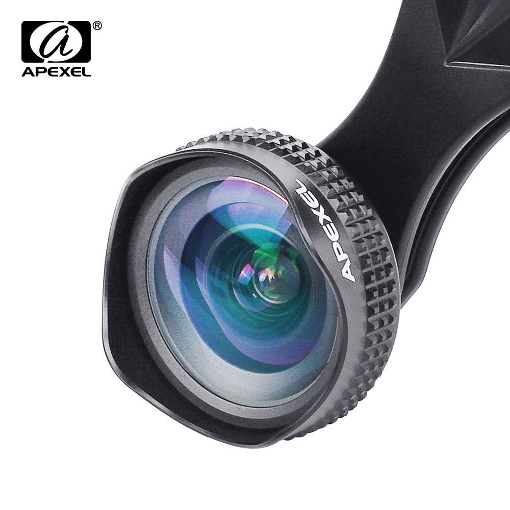 5ec70d352c Compre Apexel Optic Pro Lens 18MM HD Kit De Lentes De Cámara De Gran  Angular Para Teléfonos Celulares 2X Más Panorámicas Para Android IOS  Smartphones Lente ...