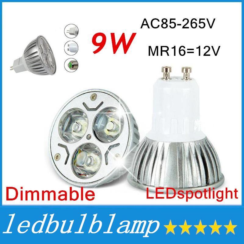 293614389 DHL 9W Dimmable LED Bulb Light GU10 MR16 E27 E14 LED Spotlights CREE ...