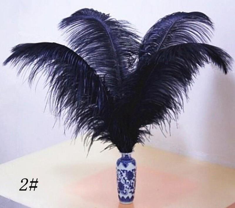 Gefärbte Straußenfedern weiß schwarz flauschige Federn Straußenfedern trimmen Boa Hochzeit Party Bühne Startseite Weihnachten Dekor Diy Feder 8-10