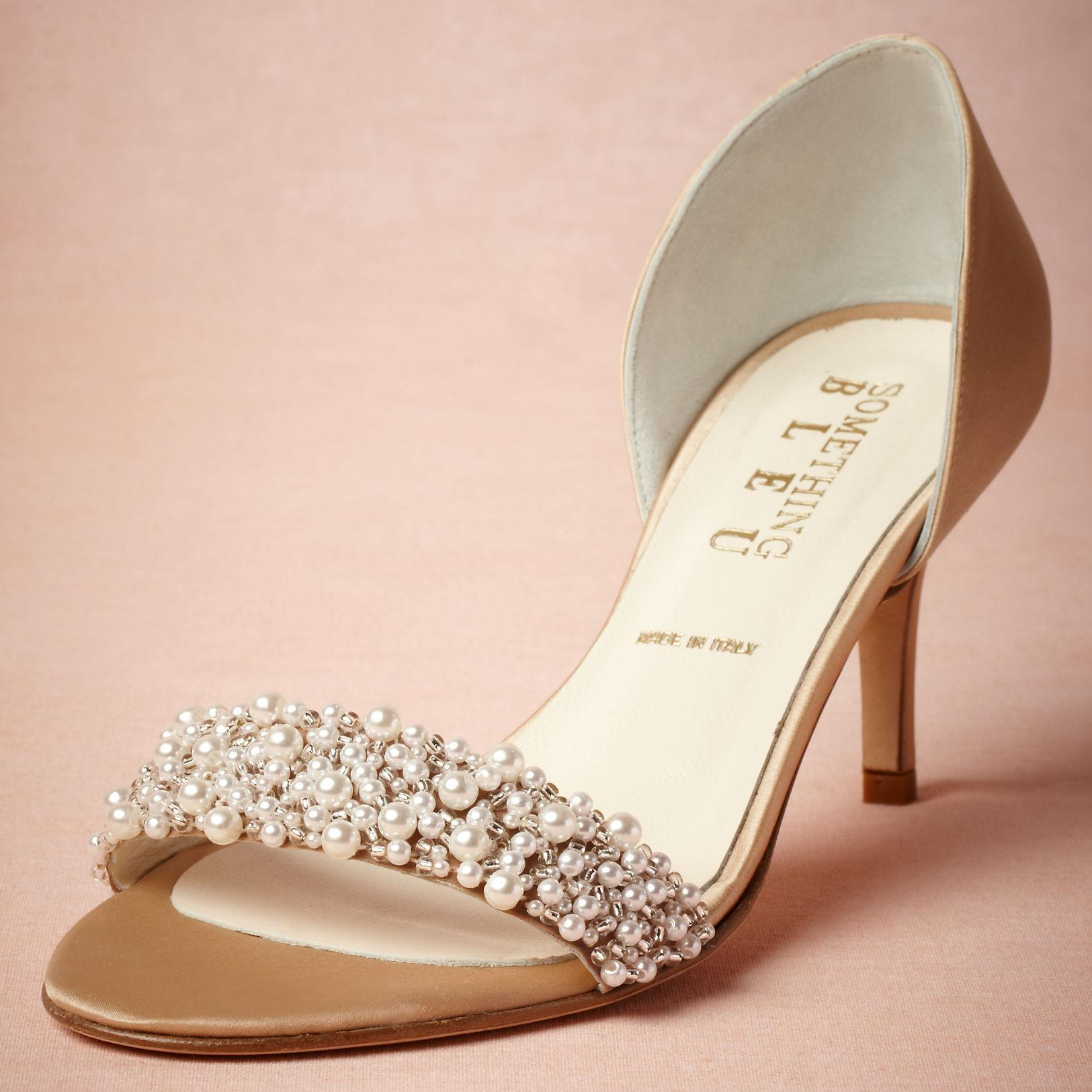 Gold Bridal Shoes Low Heel