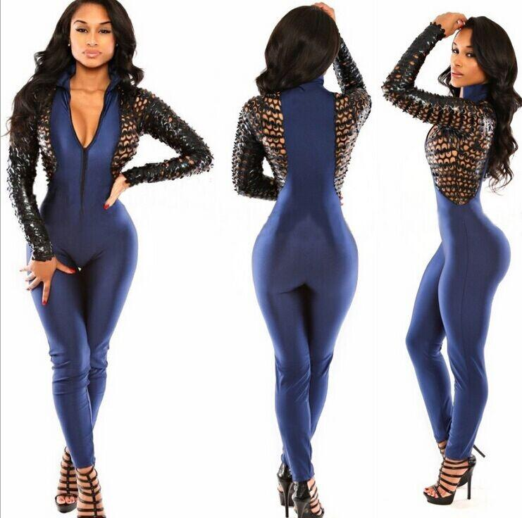 edadc15544a 2019 Hot Sale Fashion Sexy Jumpsuit Rompers Womens Neon Graphic Maze Print  Bodysuits Hollow Out Catsuit From Agnes123