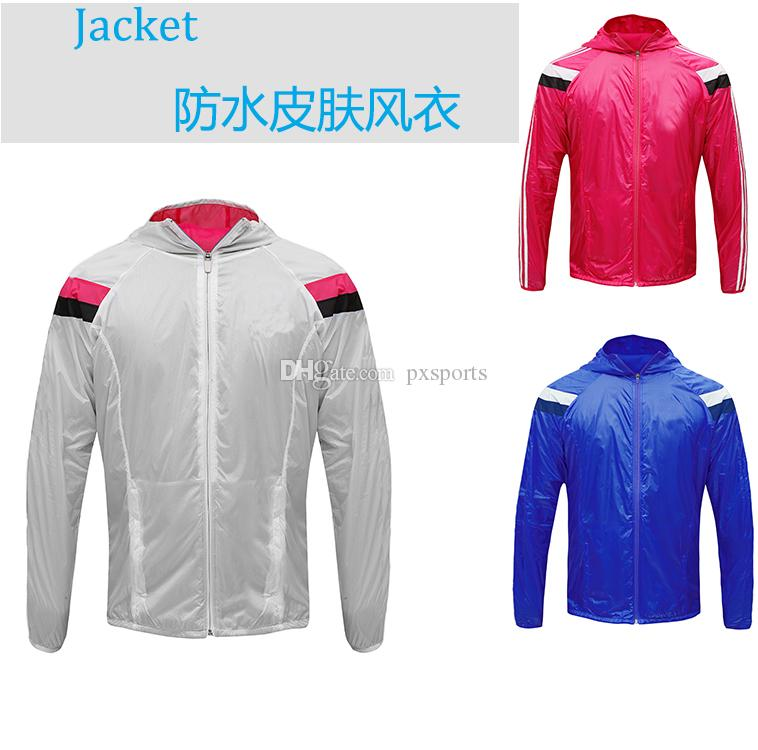 2017 Soccer Jacket Football Tracksuits Dust Coat Wind Coat ...