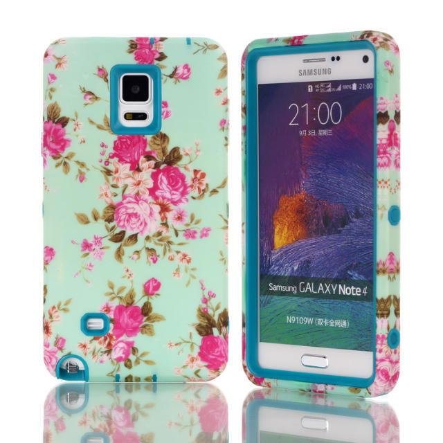 935127e134d For Samsung Galaxy Note 4 Case Flower Plastic Phone Back Skin Cases Cover  For Galaxy Note4 N9100 Leather Cell Phone Cases Phones Cases From ...