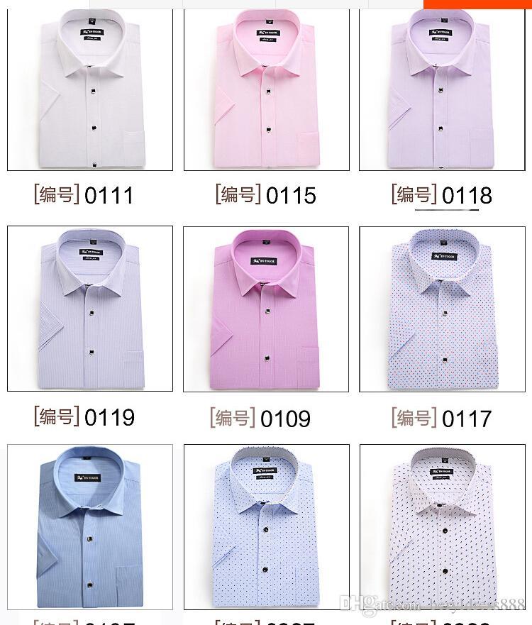 36d66a551ca Summer With Short Sleeve Shirt Men S Business Casual Groom Wedding Dress  Pink Wash And Wear Short Sleeves Of Men S Fashionalble Shirt Shirt Groom  Dress ...