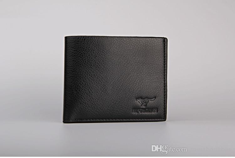 2015 erkek hakiki deri lüks cüzdan kısa rahat tasarımcı kartı sahibi cep moda çanta cüzdan erkekler ücretsiz nakliye