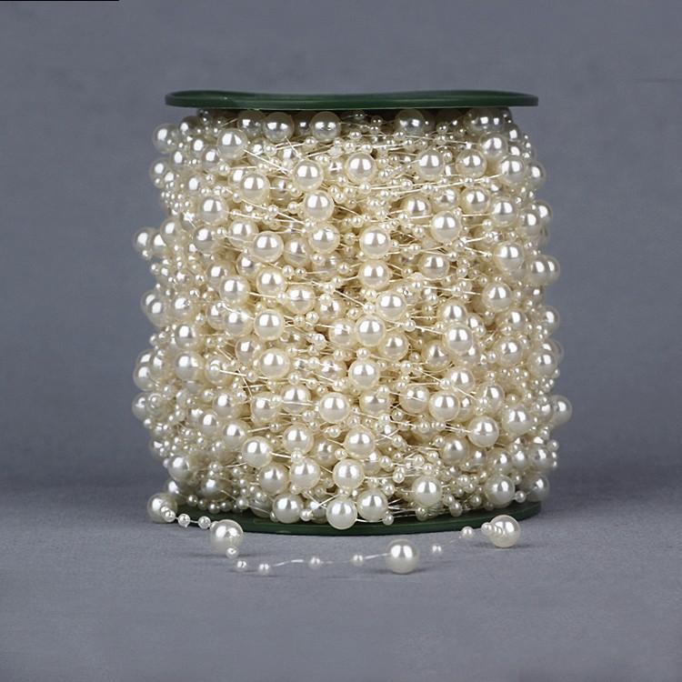60 Metre Olta İnciler Boncuk Zincir Garland Çiçekler Düğün Parti Dekorasyon Boncuk Zincir İmitasyon İnci Renkli Ucuz Malzemeleri
