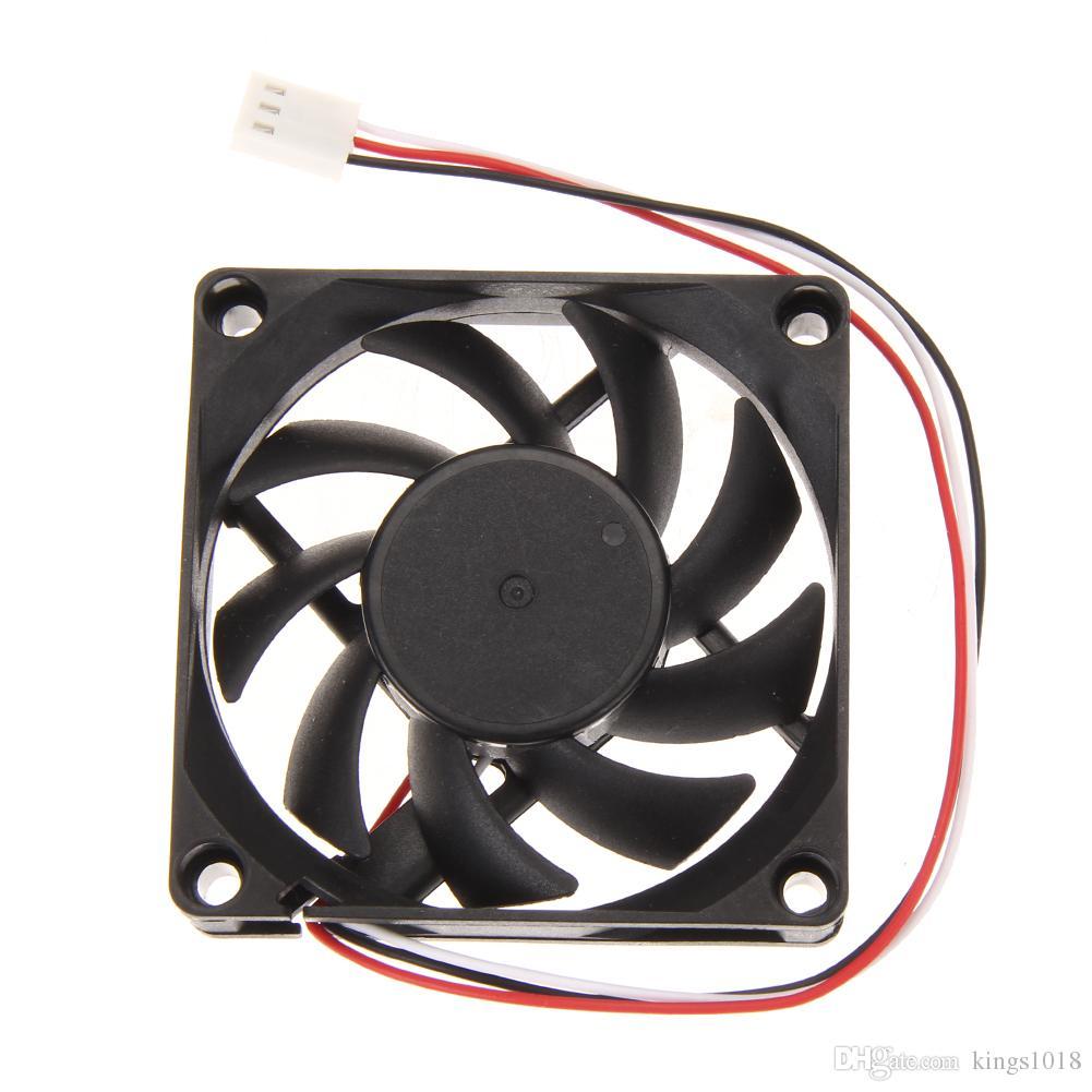 Novo Computador Portátil Caso Refrigerador DC 12 V 7 cm 70mm PC CPU Cooler Fan Dissipador De Calor 70x70x15mm 3pin Conector Fãs Atacado